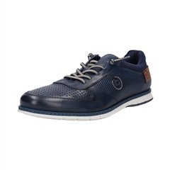 Bugatti Dark Blue - Silvan Leather Mesh Trainer