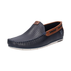 Bugatti Dark Blue - Chesley Leather Loafer