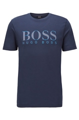 Hugo Boss Navy - Boss Logo Rerular Fit Tee