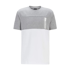 Hugo Boss Light Grey - Boss Logo Regular Fit Tee