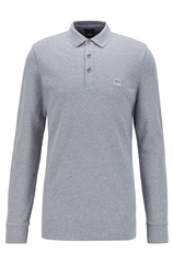 Hugo Boss Grey - Passerby Slim Fit Long Sleeve Polo Shirt