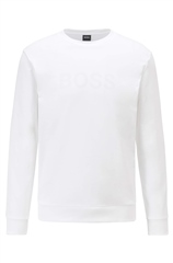 Hugo Boss White - Heritage Crewneck Sweatshirt