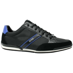 Black - Saturn Low Profile Sneaker by Hugo Boss