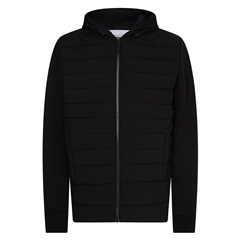 Calvin Klein Black - Quilted Zip Hooded Jacket