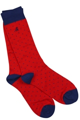 Swole Panda Red - Dotted Red Socks