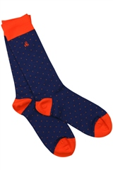Swole Panda Orange - Dotted Orange Socks
