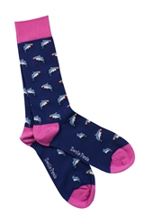 Swole Panda Navy - Shark Socks