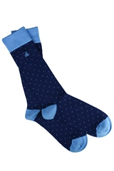 Swole Panda Navy - Dotted Socks
