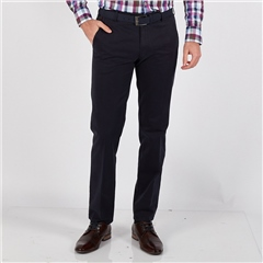 Navy - New York Cotton Trousers by Meyer