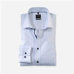 Olymp White - Small Design Mod Fit Shirt