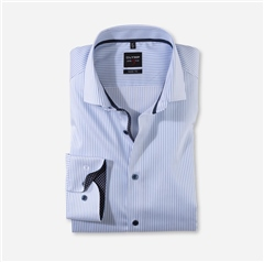 White - Stripe Slim Fit Shirt by Olymp
