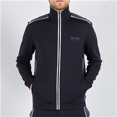 Navy - Tracksuit Zip Through Jacket by Hugo Boss