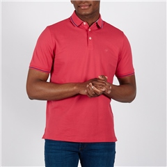 Dk Pink - Soft Cotton Polo With Contrast Tipping by Marco Capelli