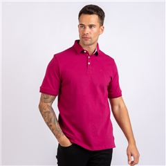 Marco Capelli Plum - Soft Cotton Polo With Contrast Tipping