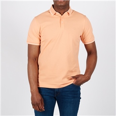 Orange - Soft Cotton Polo With Contrast Tipping by Marco Capelli