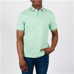 Mint - Soft Cotton Polo With Contrast Tipping by Marco Capelli