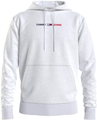 Tommy Jeans White - Tommy Straight Logo Hood