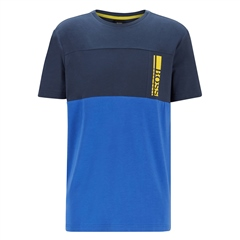 Hugo Boss Navy - Logo Colourblock Tee Shirt