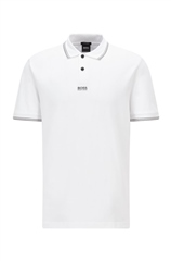 Hugo Boss White - Pchup Relaxed Fit Polo