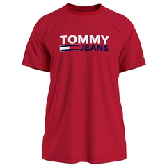 Tommy Jeans Red - Tommy Corporate Logo Tee Rf