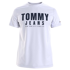 Tommy Jeans White - Tommy Center Chest Logo Tee