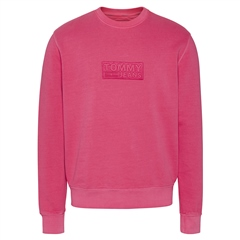 Tommy Jeans Pink - Tommy Tonal Corporate Logo Crew Neck Rf Sweatshirt