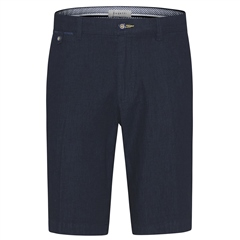 Bugatti Navy - Cotton Linen Casual Shorts