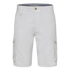 Bugatti Light Grey - Cotton Cargo Shorts