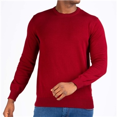 Marco Capelli Red - Solid Crew Neck Knit