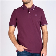 Bugatti Plum - Chest Logo Regular Fit Polo Shirt