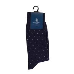 Navy - Diamond Logo Sock by Marco Capelli