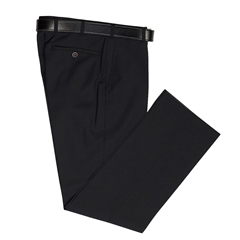 Black - Classic Regular Fit Trousers by Marco Capelli