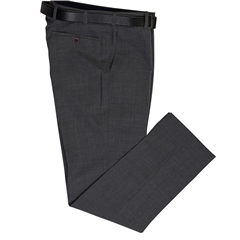 Grey - Classic Regular Fit Trousers by Marco Capelli