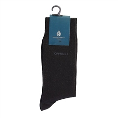 Marco Capelli Black - Plain Logo Sock