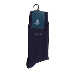 Marco Capelli Navy - Plain Logo Sock