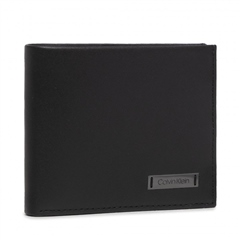 Black - Smooth Plaque Slimfold by Calvin Klein