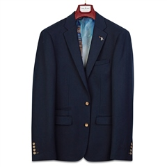 Navy - Honeycomb Tailored Blazer by Herbie Frogg