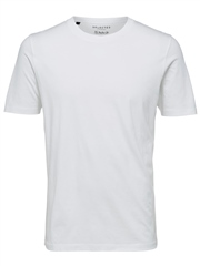 Selected White - Crew Neck T-Shirt