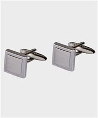 Michaelis Silver - Brushed Square Cufflinks