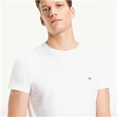 White - Stretch Slim Fit T-Shirt by Tommy Hilfiger