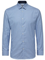 Sky Blue - Stripe Shirt by Selected