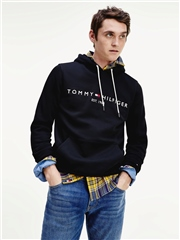 Tommy Hilfiger Black - Flex Fleece Logo Hoodie