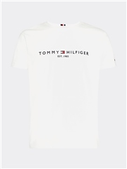 White - Core Logo T-Shirt by Tommy Hilfiger