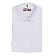 White - Body Fit Easy Iron Shirt by Marvelis