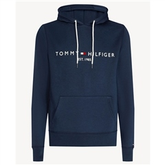 Navy - Flex Fleece Logo Hoodie by Tommy Hilfiger