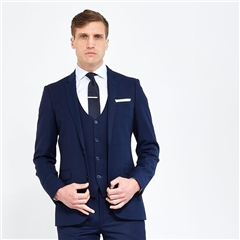 Remus Uomo Blue - Lazio Slim Fit 3 Piece Suit
