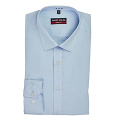 Blue - Body Fit Easy Iron Shirt by Marvelis