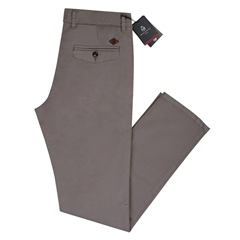 Grey - Modern Slim Fit Chinos by Marco Capelli