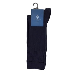Marco Capelli Navy - Soft Rib Socks