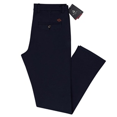 Navy - Modern Slim Fit Chinos by Marco Capelli